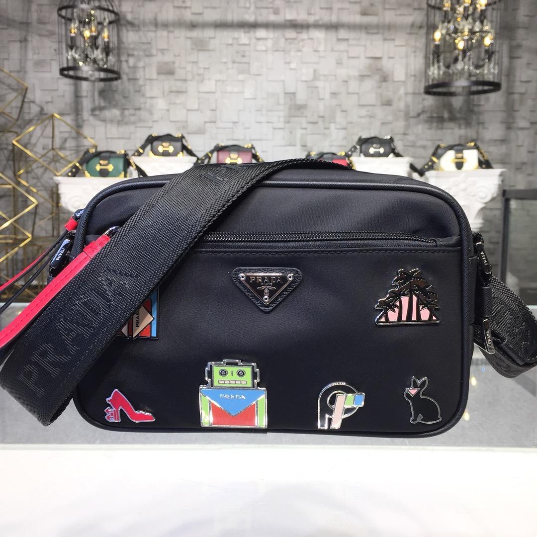 Replica Prada Women Nylon Shoulder Bag 1BC167