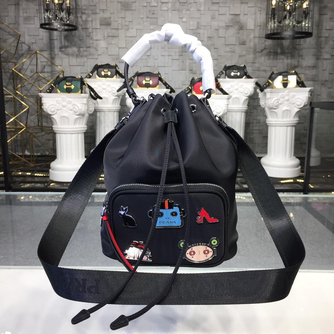 Replica Prada Women Nylon Shoulder Bag 1BH097