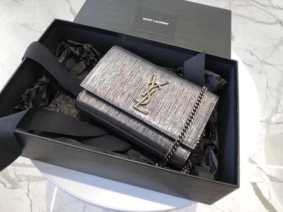 Replica Saint Laurent Kate New Styler Leather With Gold Hardware 20cm