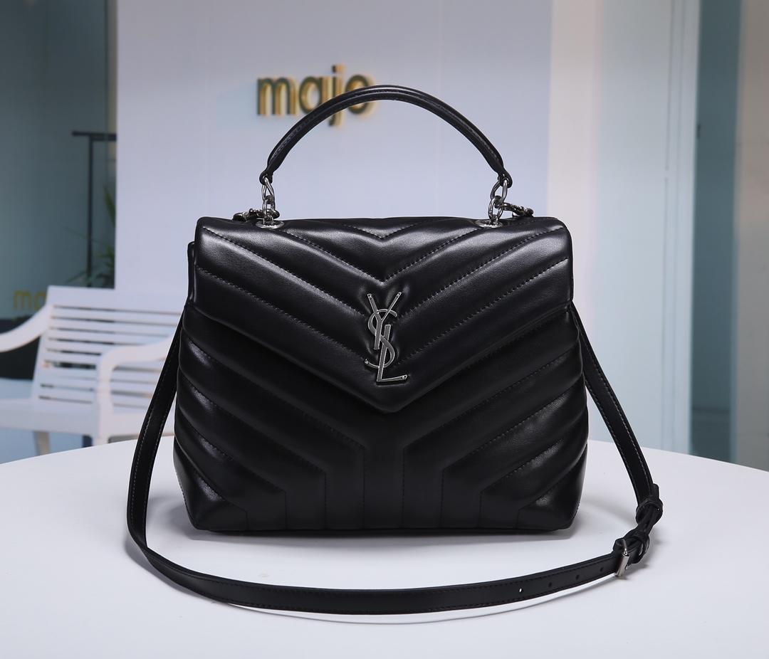 Replica Saint Laurent LOULOU Small In Matelasse Y Leather Shoulder Bag Black