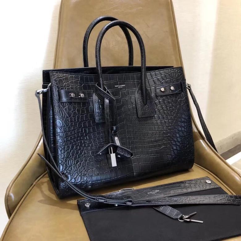 Replica Saint Laurent Sac De Jour Small In Crocodile Embossed Women Leather Handbag