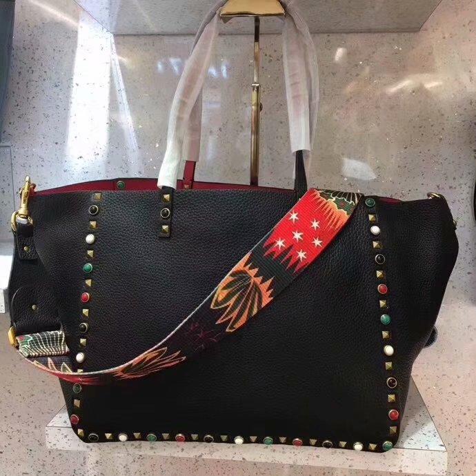 Replica Valentino Women Rockstud Tote Bag Black