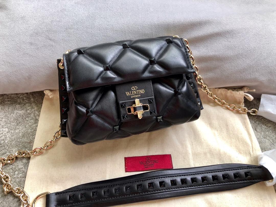 Shop Valentino Garavani Minin Women Shoulder Bag Black
