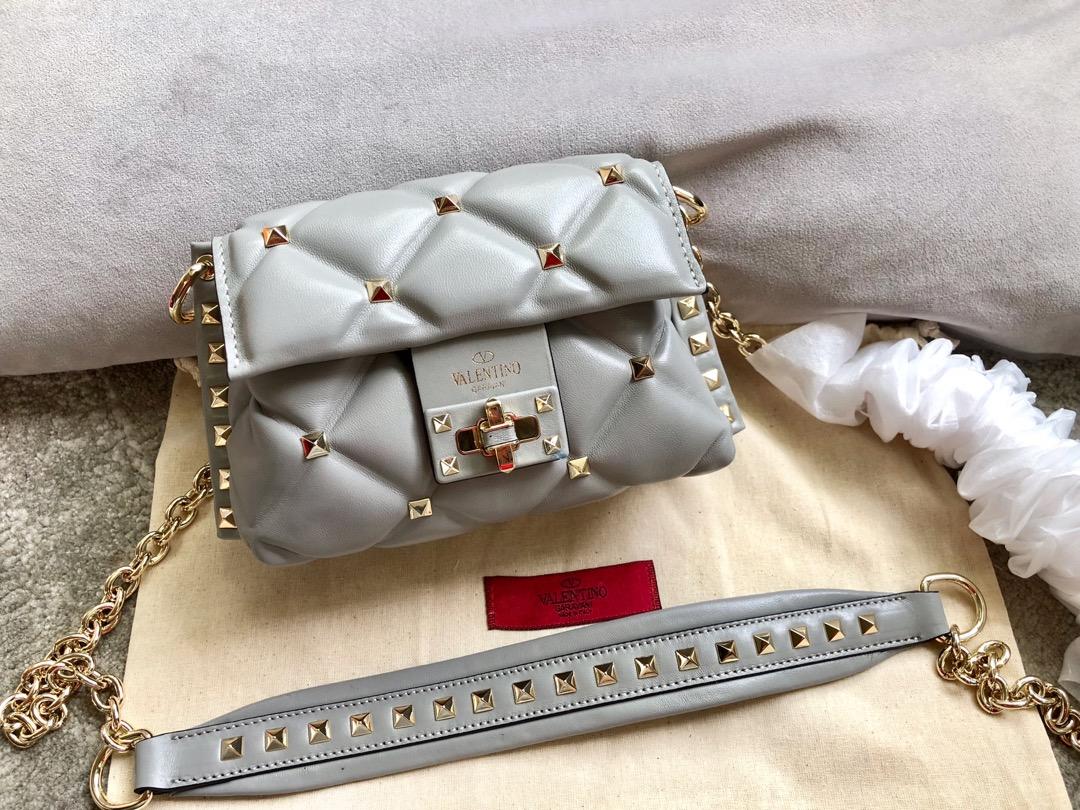 Shop Valentino Garavani Minin Women Shoulder Bag Gray