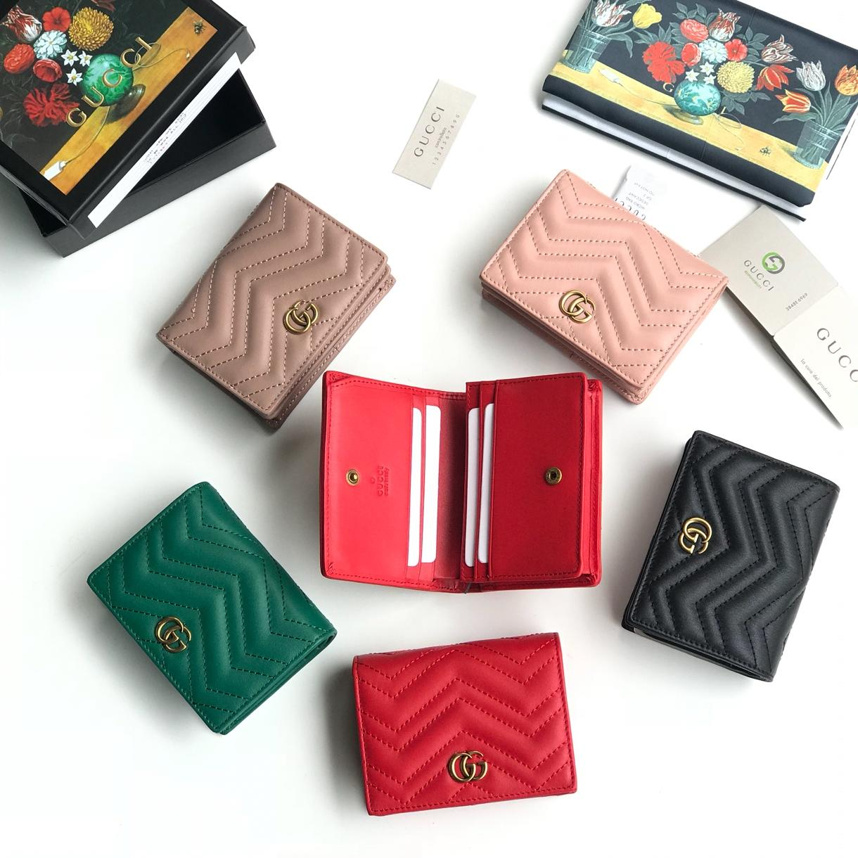 Top Quality Gucci 466492 Women GG Marmont Card Case Wallet