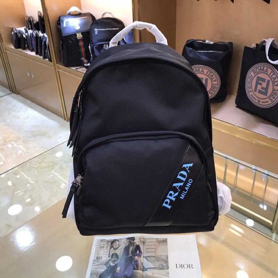 Top Quality Prada PA0022 Men Printed Saffiano Leather Backpack