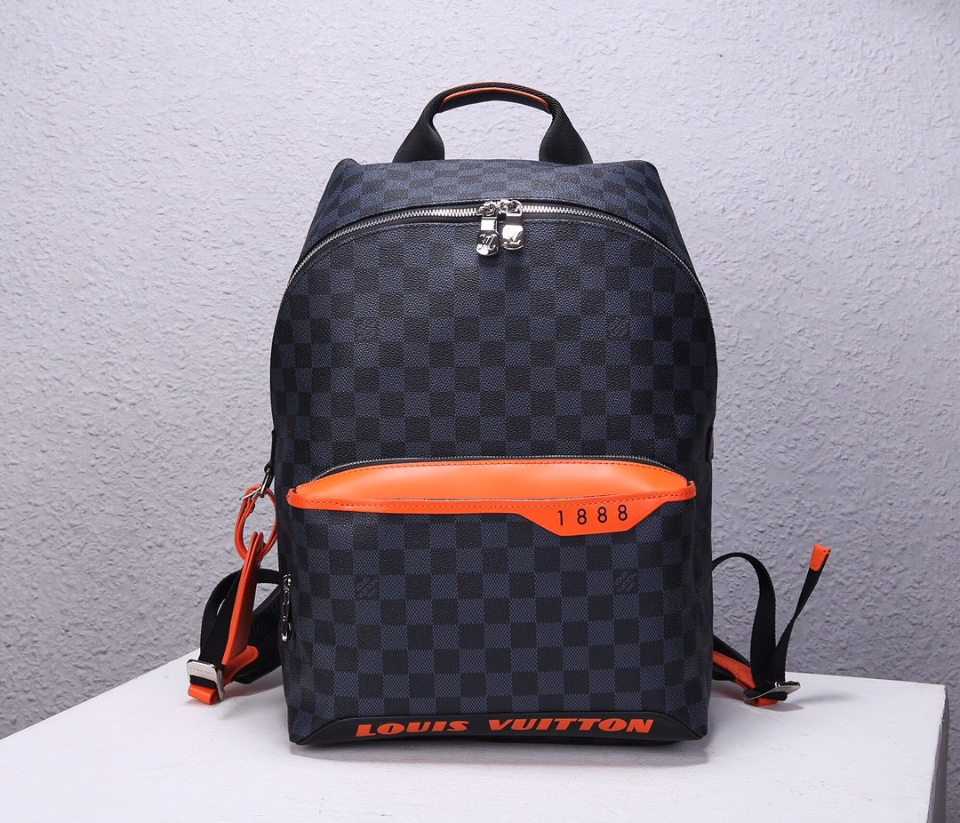 Top Replica Louis Vuitton N40157 Damier Cobalt Race Discovery Backpack PM