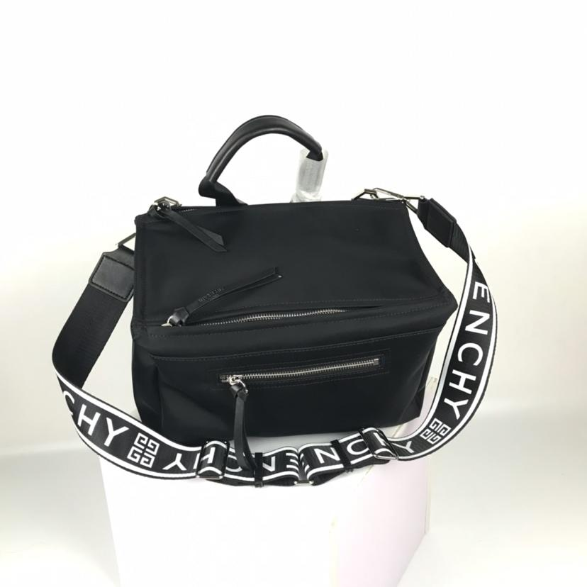 AAA Givenchy Men 4G Pandora Cubic Belt Bum Bag Black Nylon