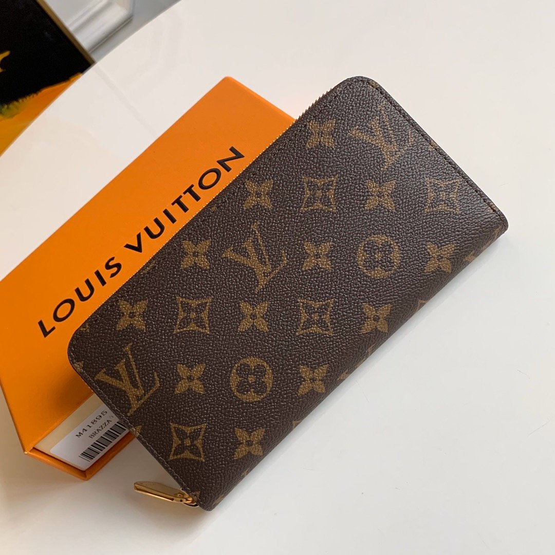AAA Louis Vuitton M41895 Zippy Wallet Monogram