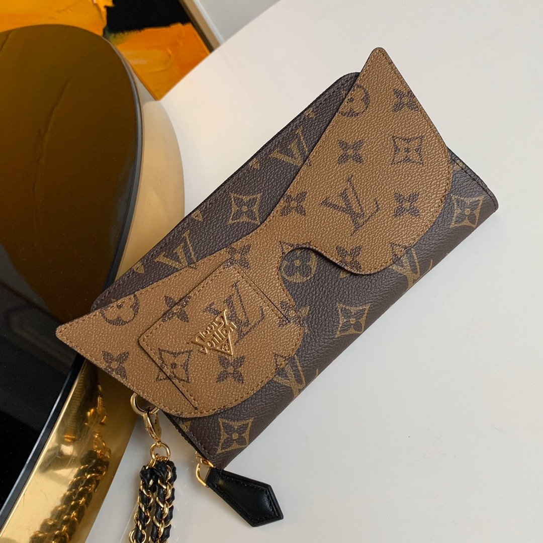 AAA Louis Vuitton M68796 Zippy Wallet Shades Combining Monogram and Monogram Reverse canvas