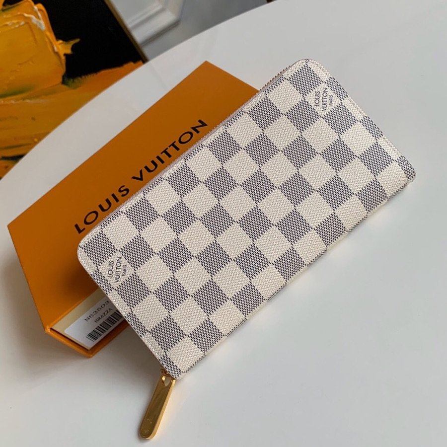 AAA Louis Vuitton N63503 Zippy Wallet Damier Azur Canvas
