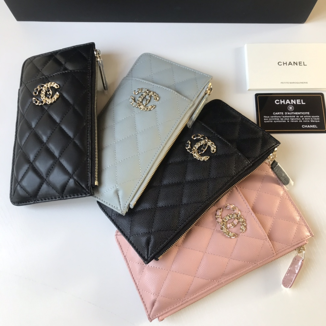 Best Price Chanel New Phone Bag Wallet 1847 Black