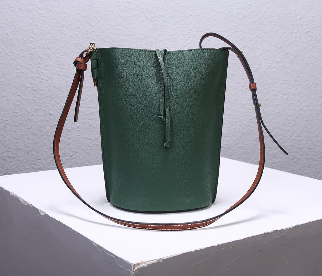 Best Price Loewe Women Gate Bucket Bag Forest Green