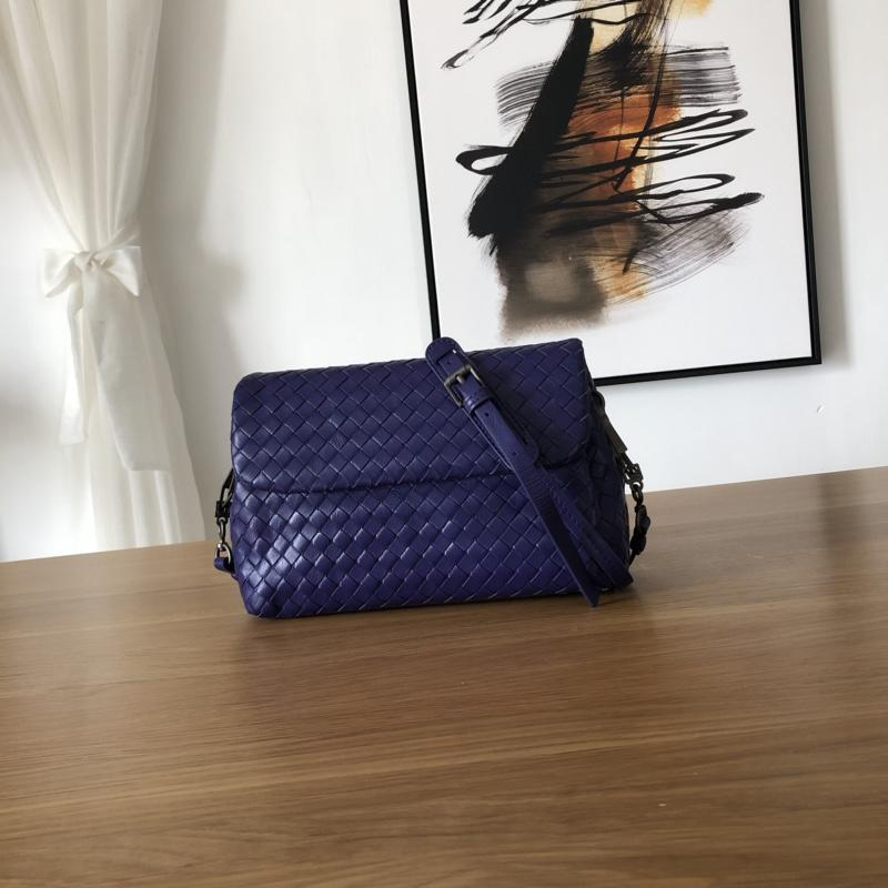 Bottega Veneta Women Small Messenger Bag Dark Blue