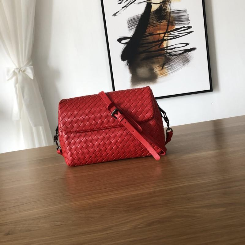 Bottega Veneta Women Small Messenger Bag Red