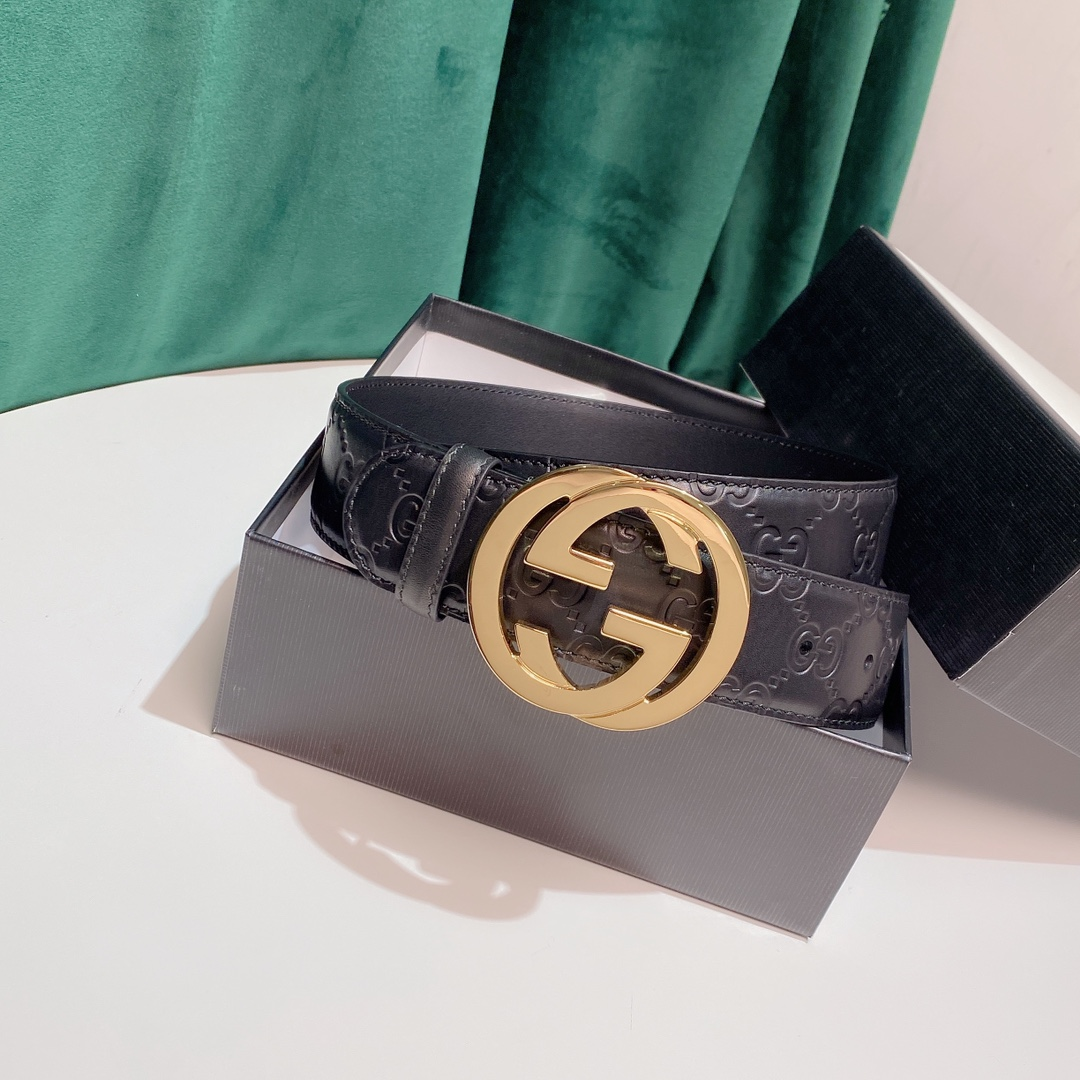 Cheap Replica Gucci Leather Belts width 3.8cm 146