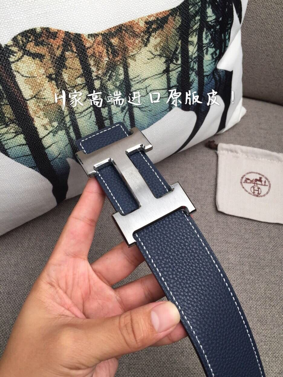 Cheap Replica Hermes Reversible Leather Men Belt Width 4cm 059