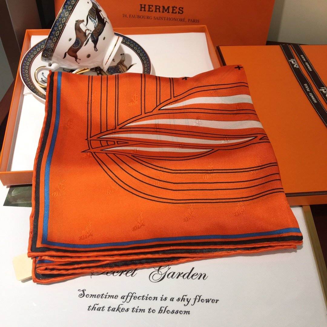 Cheap Replica Hermes Women Silk Scarf 0009