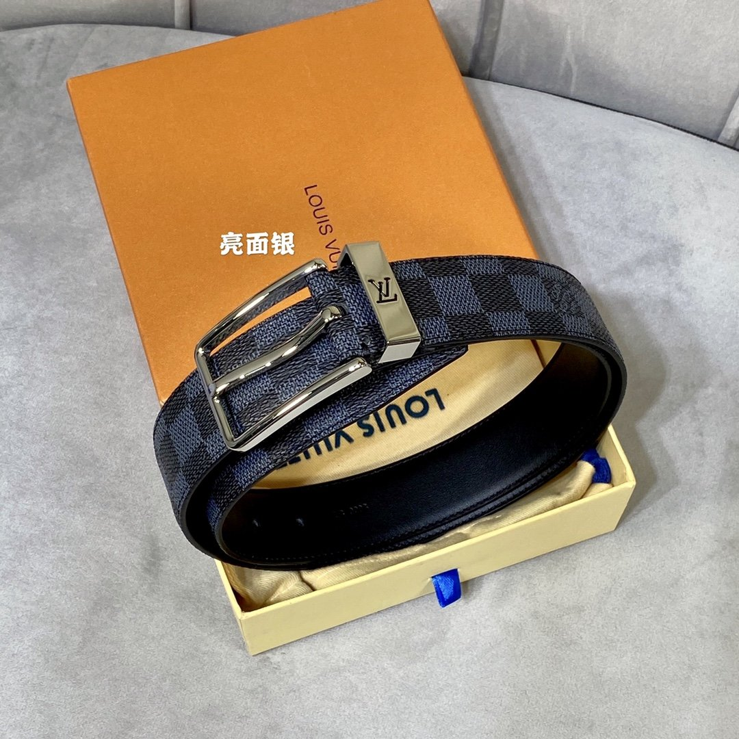 Cheap Replica Louis Vuitton Men Leather Belt Width 3.5cm 103