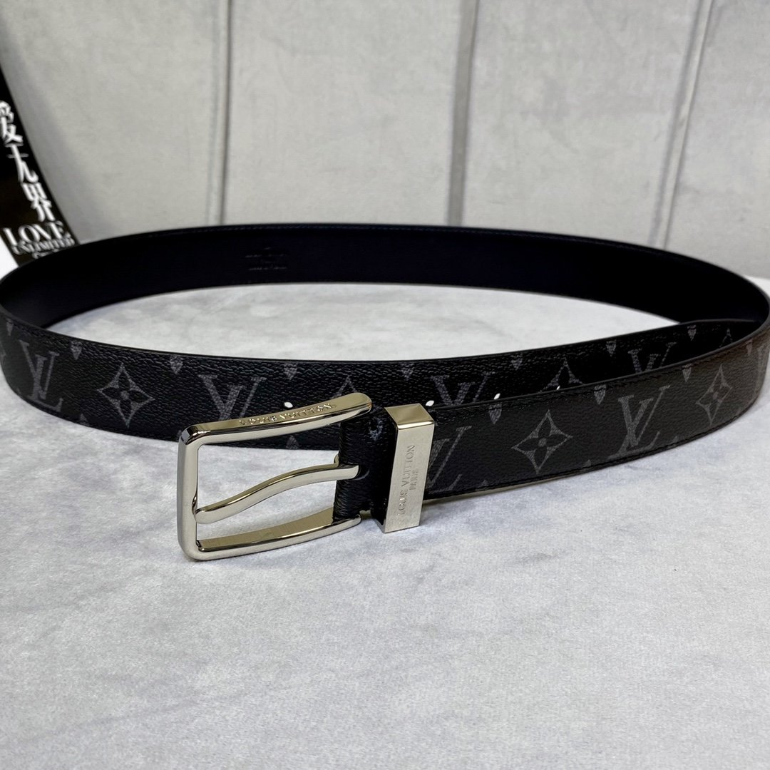 Cheap Replica Louis Vuitton Men Leather Belt Width 3.5cm 106
