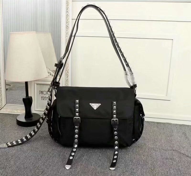 Cheapest 2018 New Prada Black Women Nylon Shoulder Bag