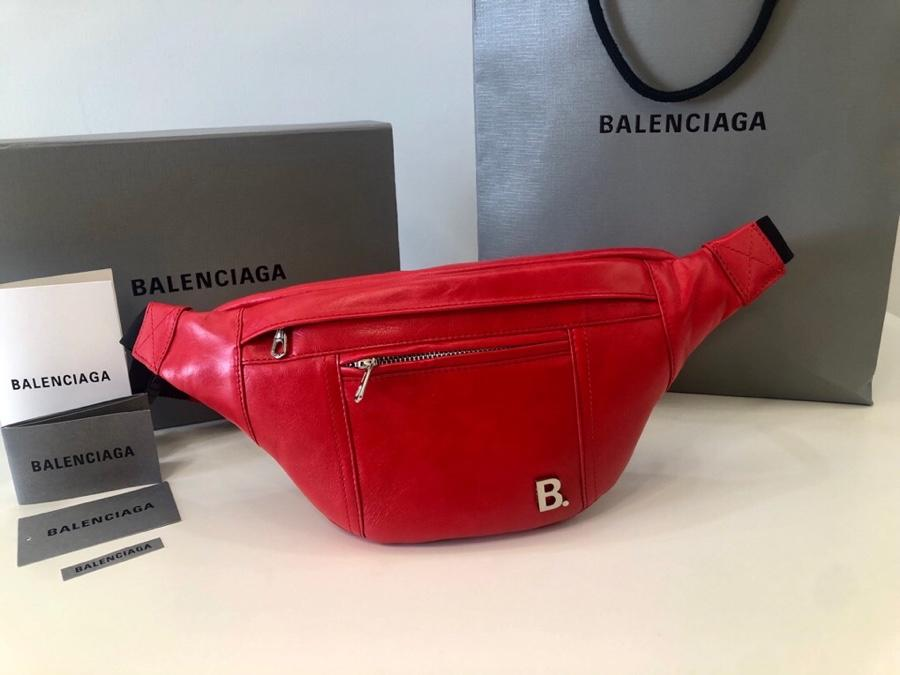 Copy Balenciaga Women Soft XS Beltpack in Red Nappa Leather