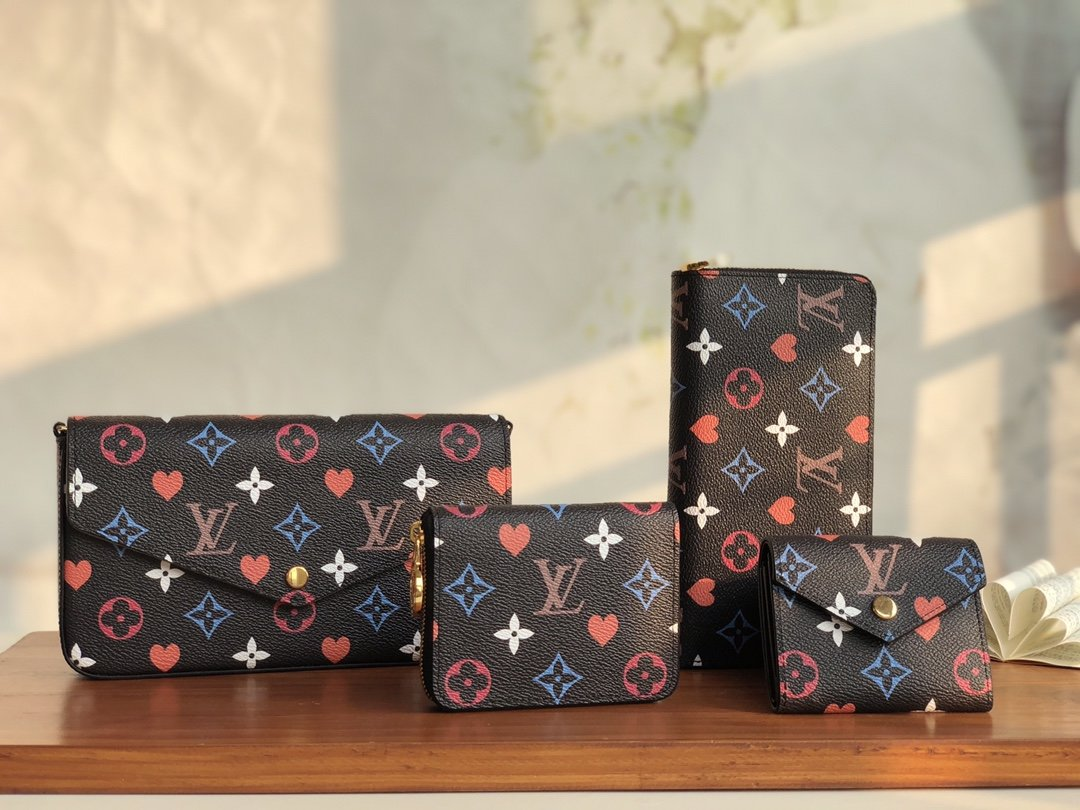 Copy Louis Vuitton 2021 Game On collection of Leather Goods Black
