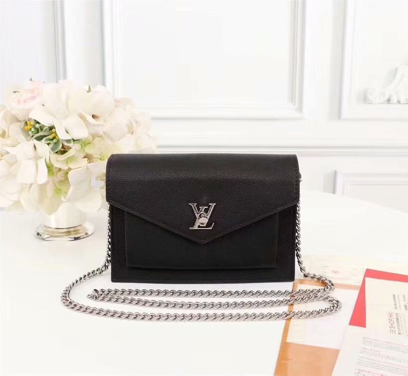 Copy Louis Vuitton M63471 Pochette Mylockme Chain Calf Leather