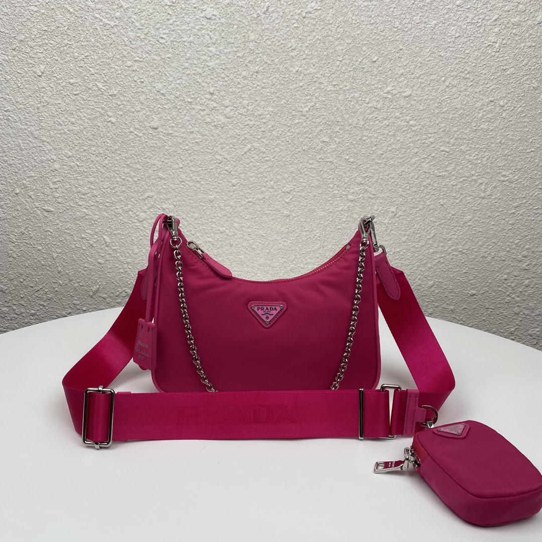 Copy Prada 1BH204 Re-Edition 2005 Re-Nylon Bag Dark Red