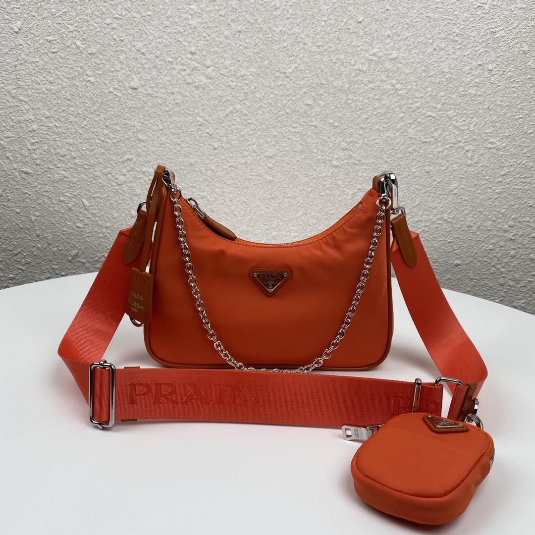 Copy Prada 1BH204 Re-Edition 2005 Re-Nylon Bag Orange