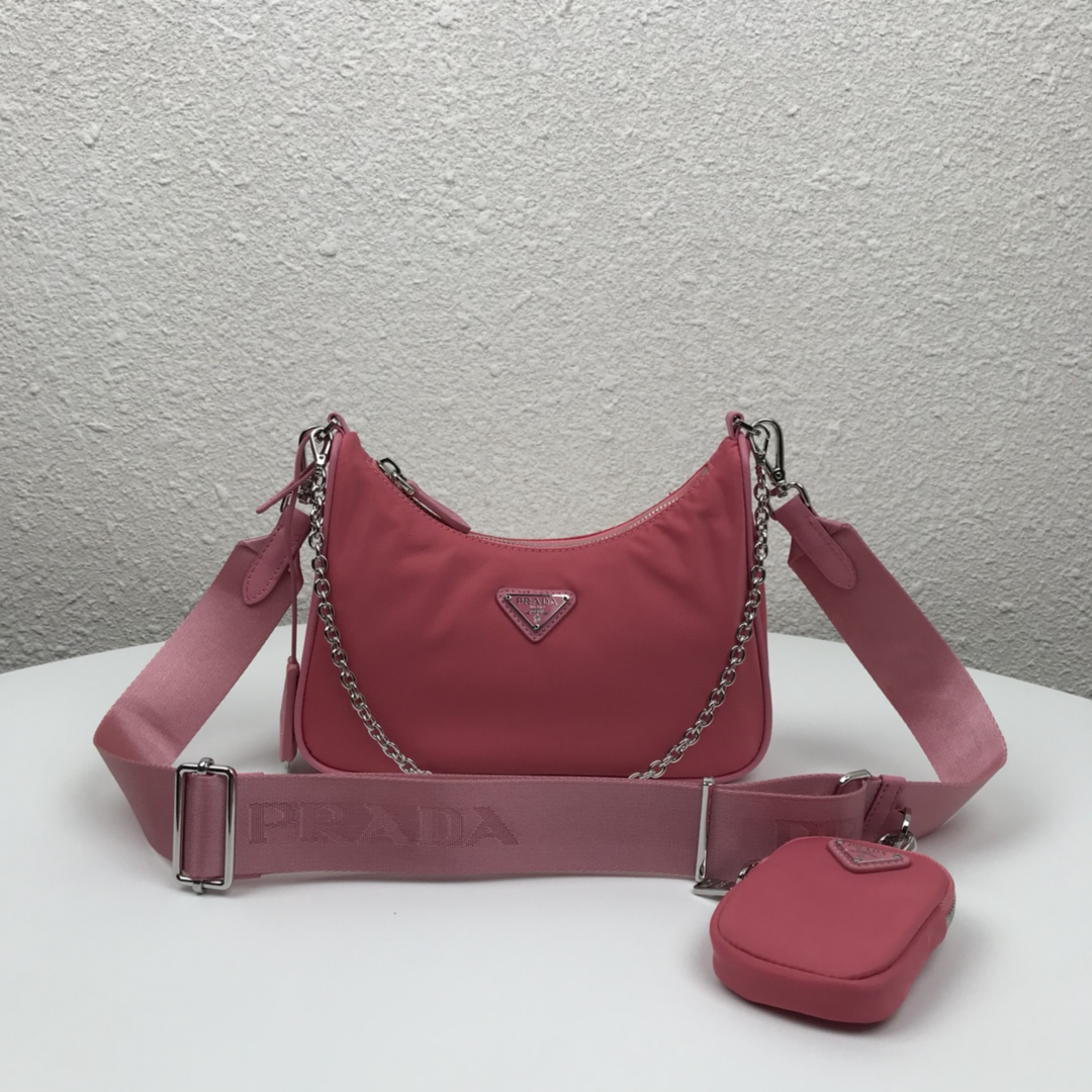 Copy Prada 1BH204 Re-Edition 2005 Re-Nylon Bag Pink
