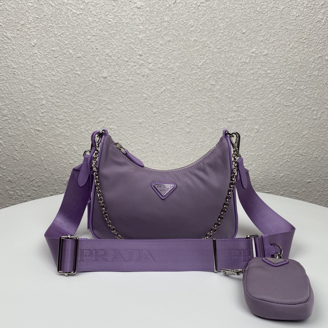 Copy Prada 1BH204 Re-Edition 2005 Re-Nylon Bag Purple
