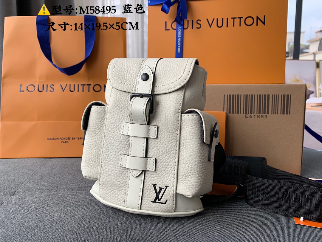 Good Reviews Louis Vuittion M58493 CHRISTOPHER XS Backpack White Taurillon Leather