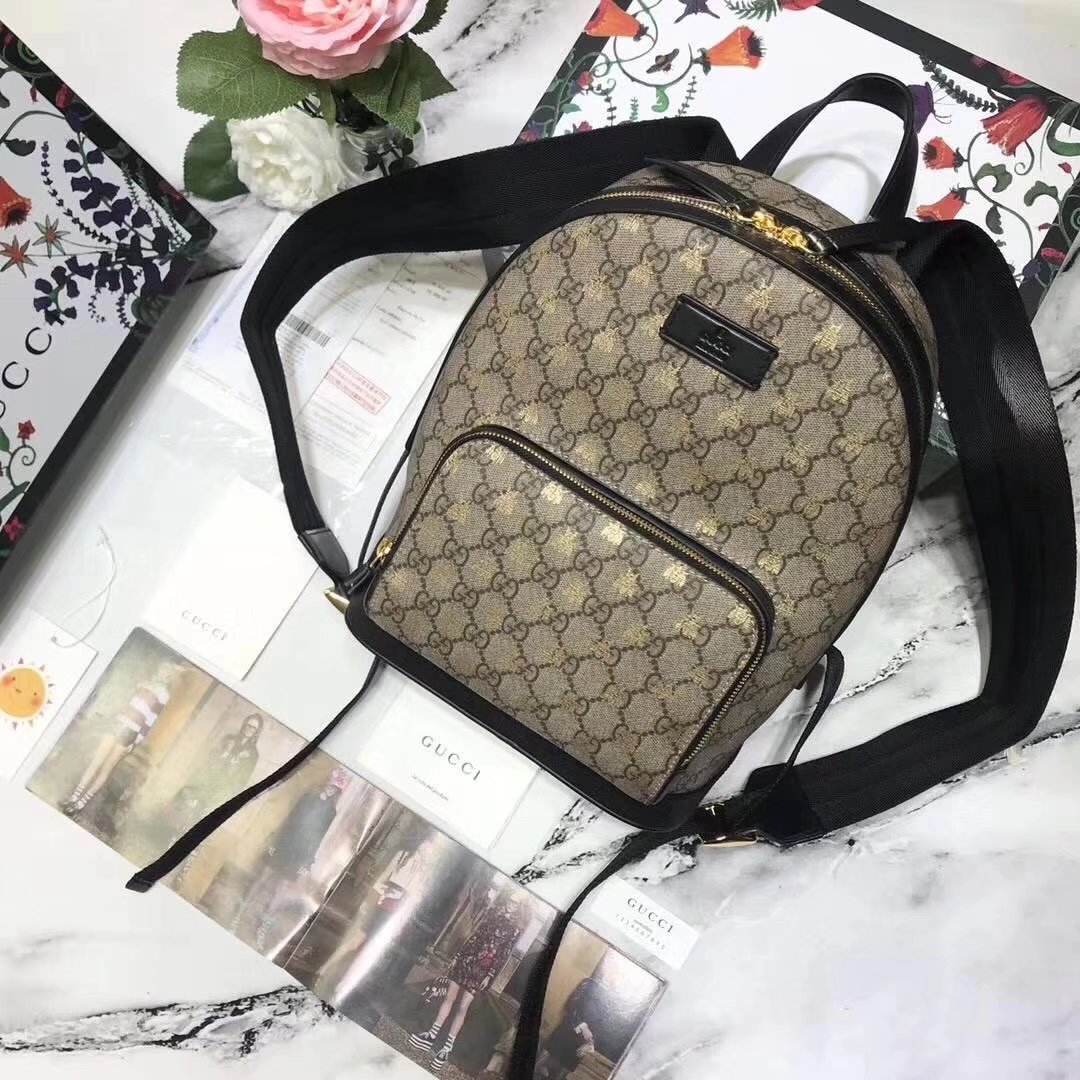 Gucci 427042 GG Supreme Bees Men Backpack