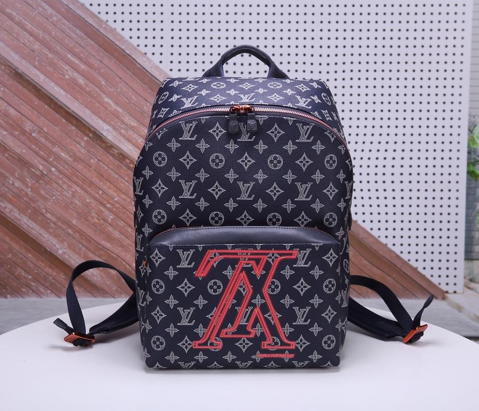 Louis Vuitton M43676 Apollo Men Backpack Monogram Eclipse Coated Canvas