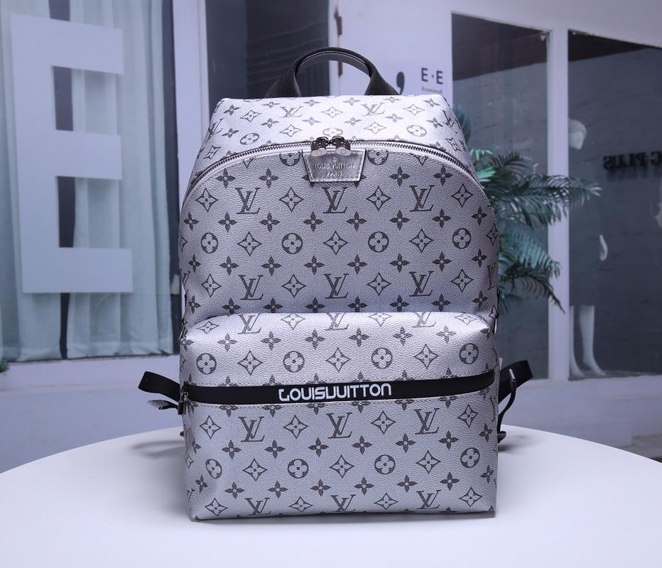 Louis Vuitton M43849 Apollo Men Backpack Monogram Coated Canvas Silver