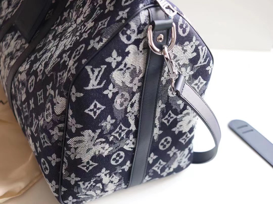 NEW Replica Louis Vuitton M57285 Keepall Bandouliere 50 Monogram Tapestry Coated Canvas