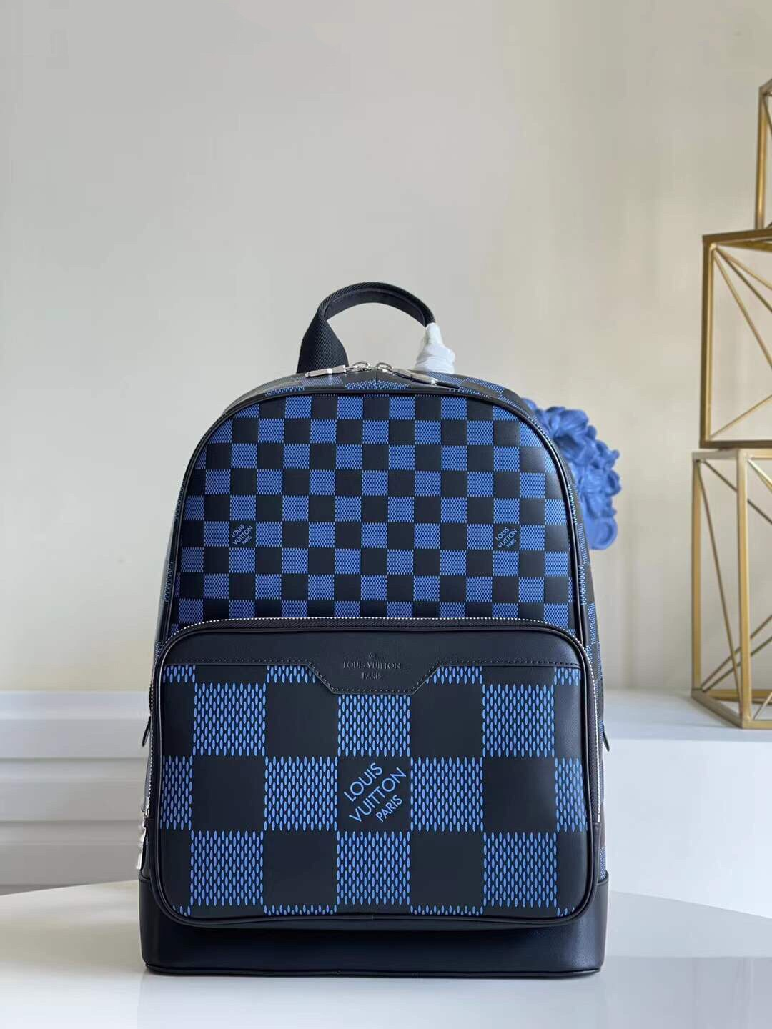 Nice Price Louis Vuittion N50021  Louis Vuitton Campus Backpack Navy Damier Infini 3D Cowhide Leather