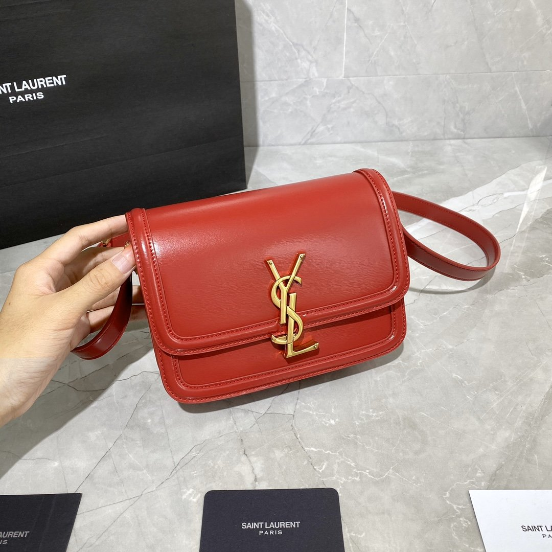 Original Copy Box Saint Laurent Leather SOLFERINO Small Satchel Red