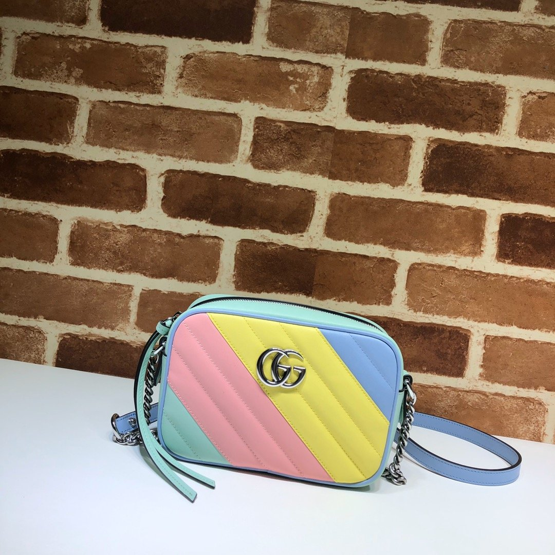 Original Copy Gucci 448065 GG Marmont Matelasse Mini Bag Multicolored Pastel