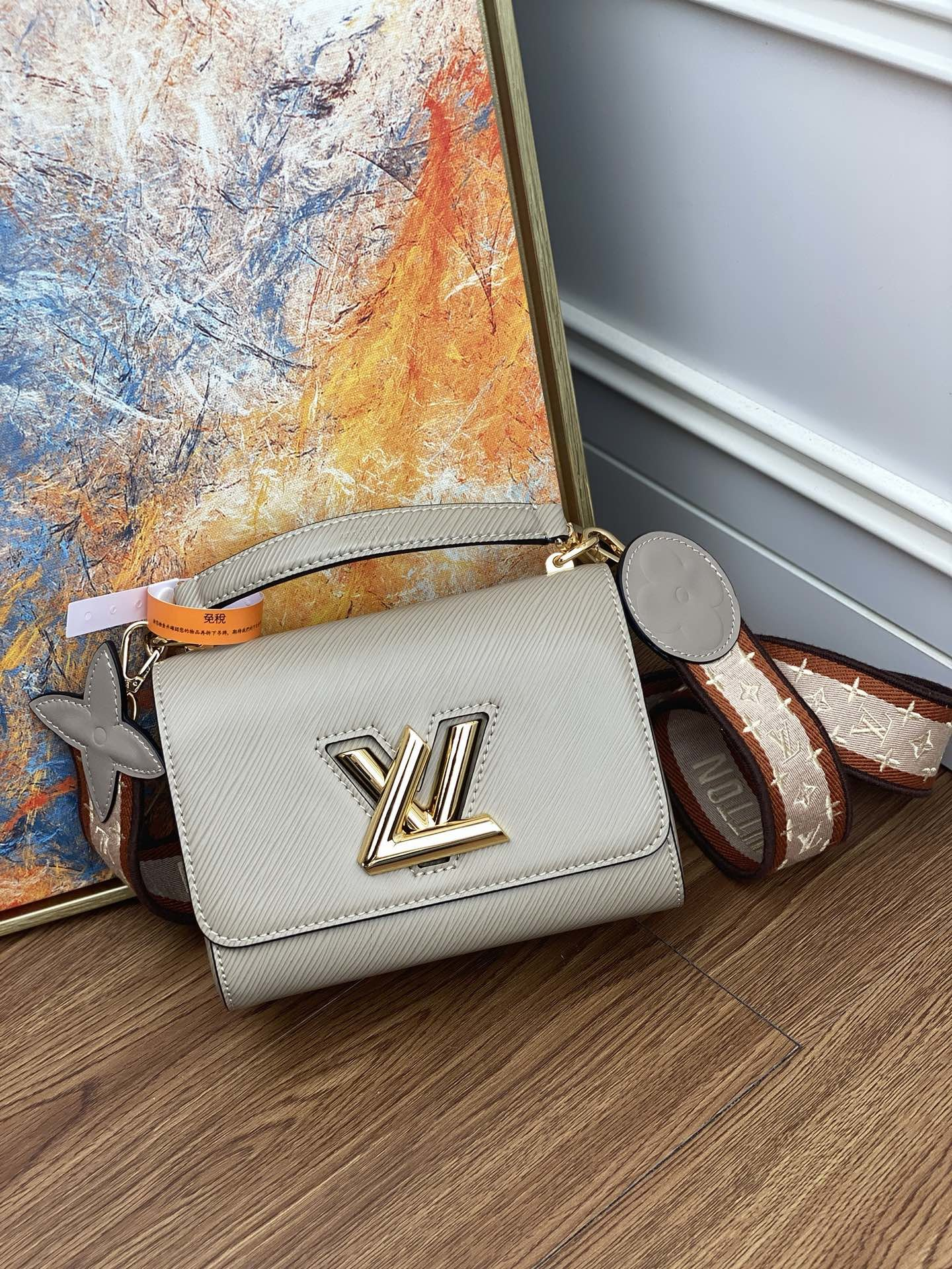 Original Copy Louis Vuitton M57049 Twist Mini Epi Leather Galet