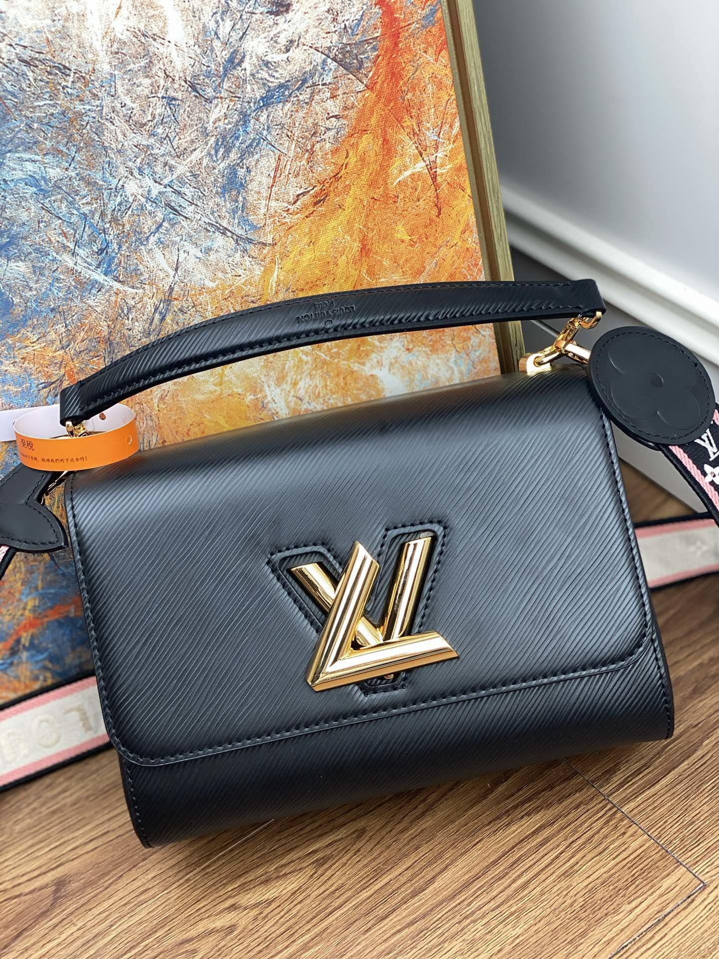 Original Copy Louis Vuitton M57050 Twist Mini Epi Leather Black