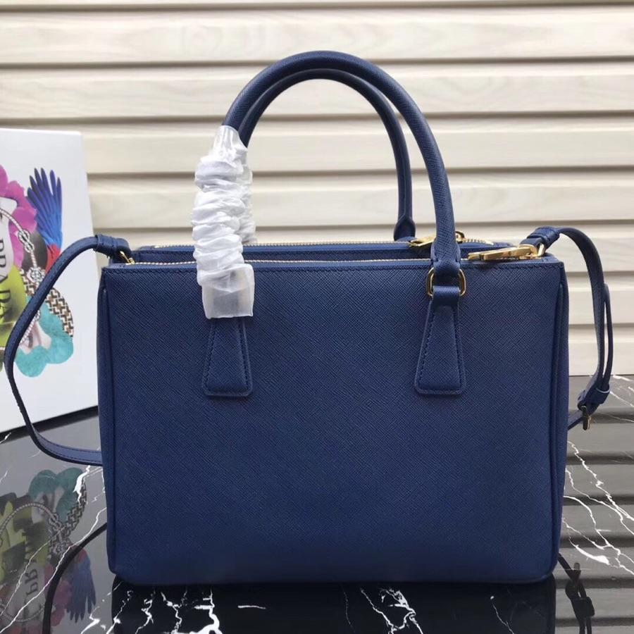 Original Copy Prada Galleria Small Saffiano Leather Bag Blue 1BA863