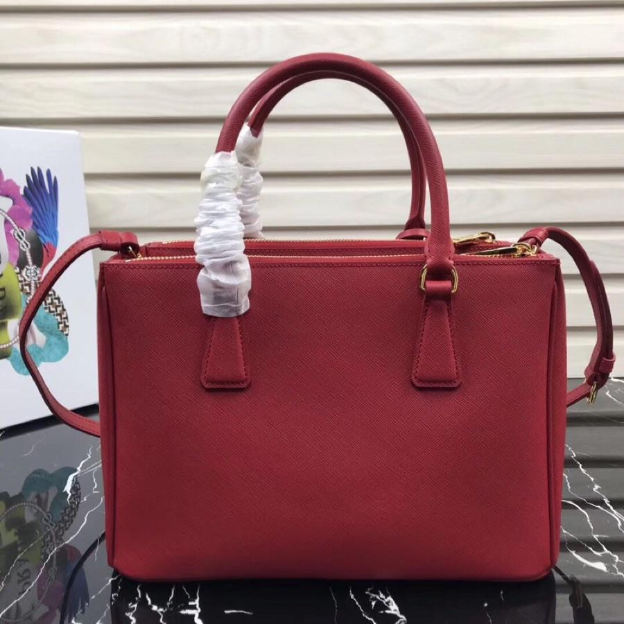 Original Copy Prada Galleria Small Saffiano Leather Bag Red 1BA863