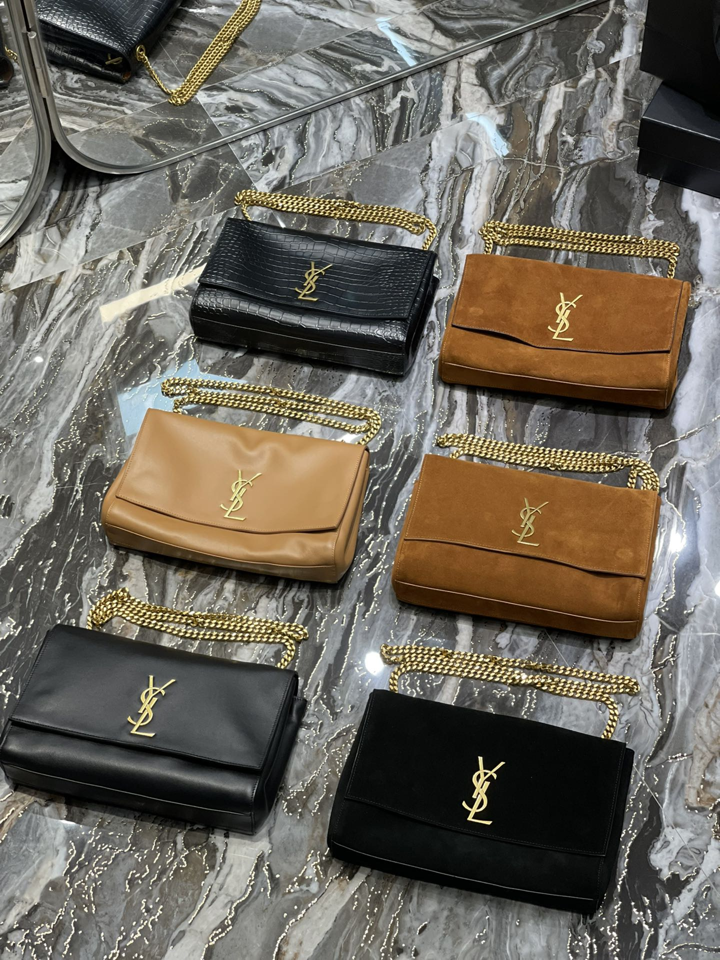 Original Copy Saint Laurent Kate 99 WithTassel in Sude(Both sides can be used)