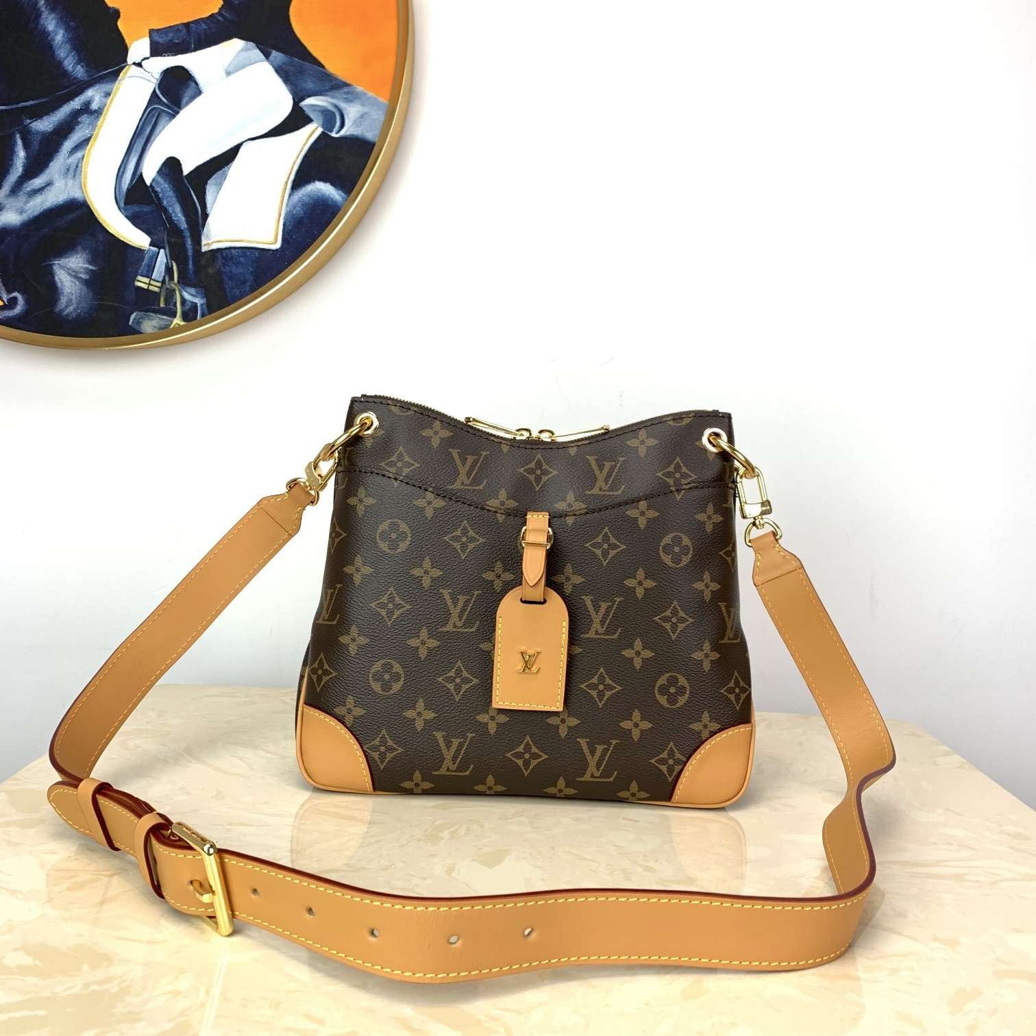 Perfect Replica Louis Vuitton M45352 Odeon MM Stylish and Functional Shoulder Bag Monogram Coated Canvas