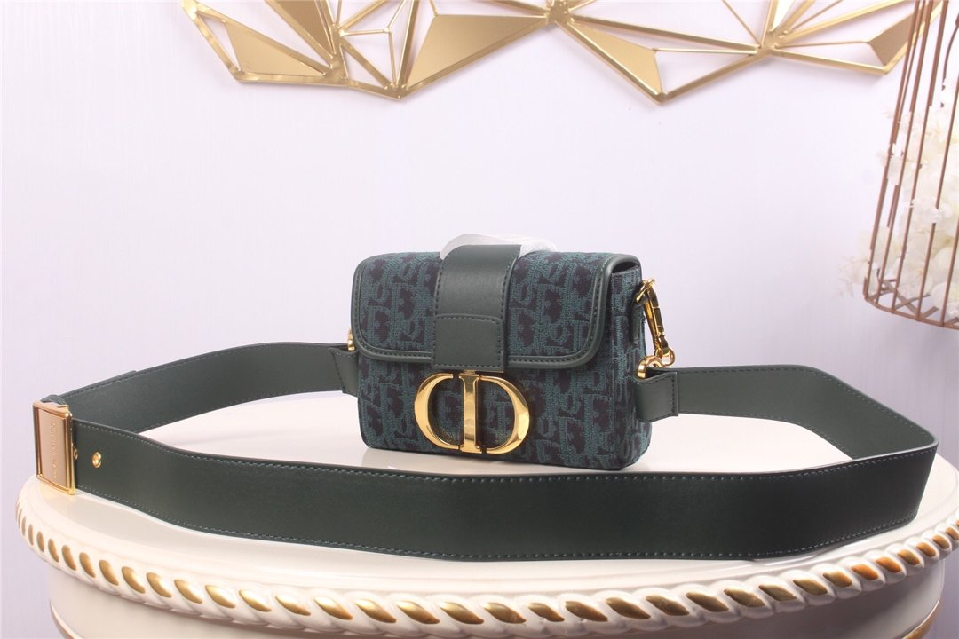 Replica 30 Montaigne Dior Oblique Bagembroidered Canvas