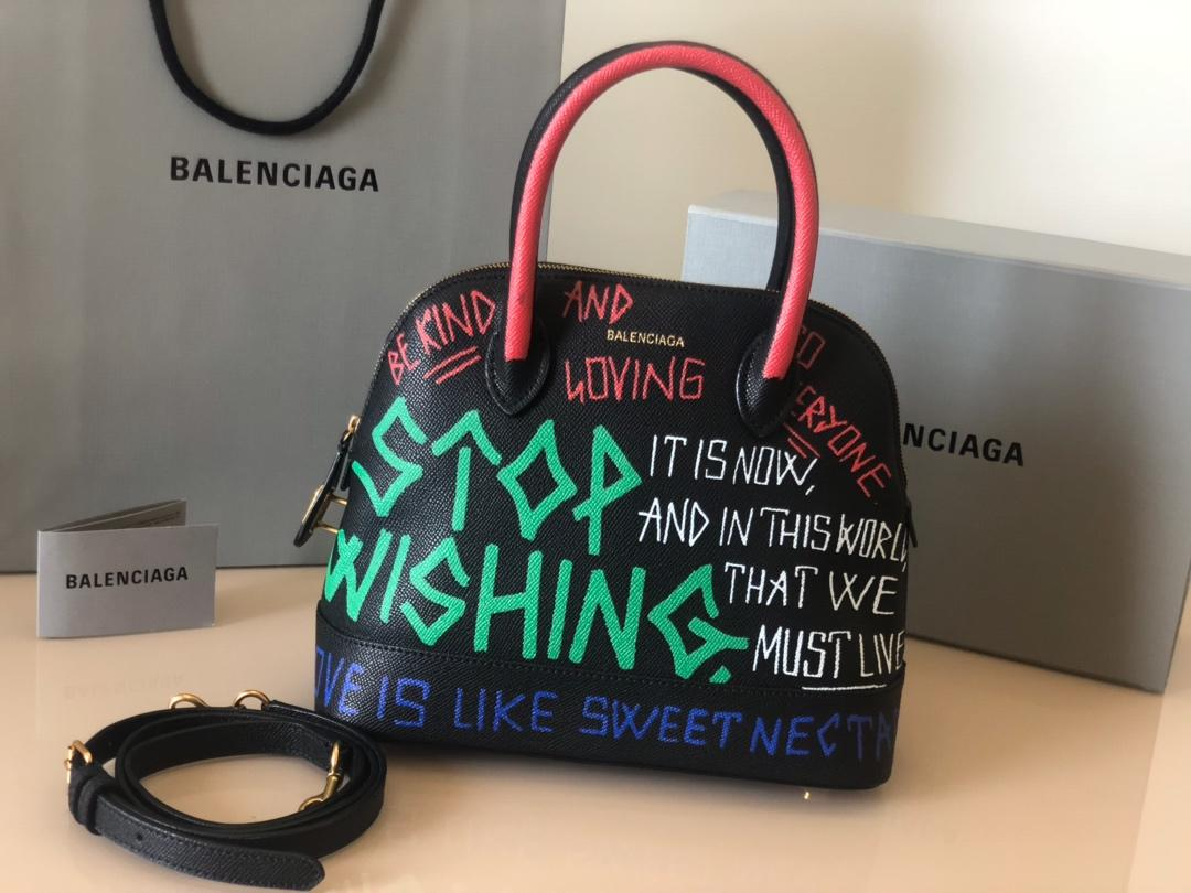 Replica Balenciaga Ville Top Handle Bag Grained Calfskin