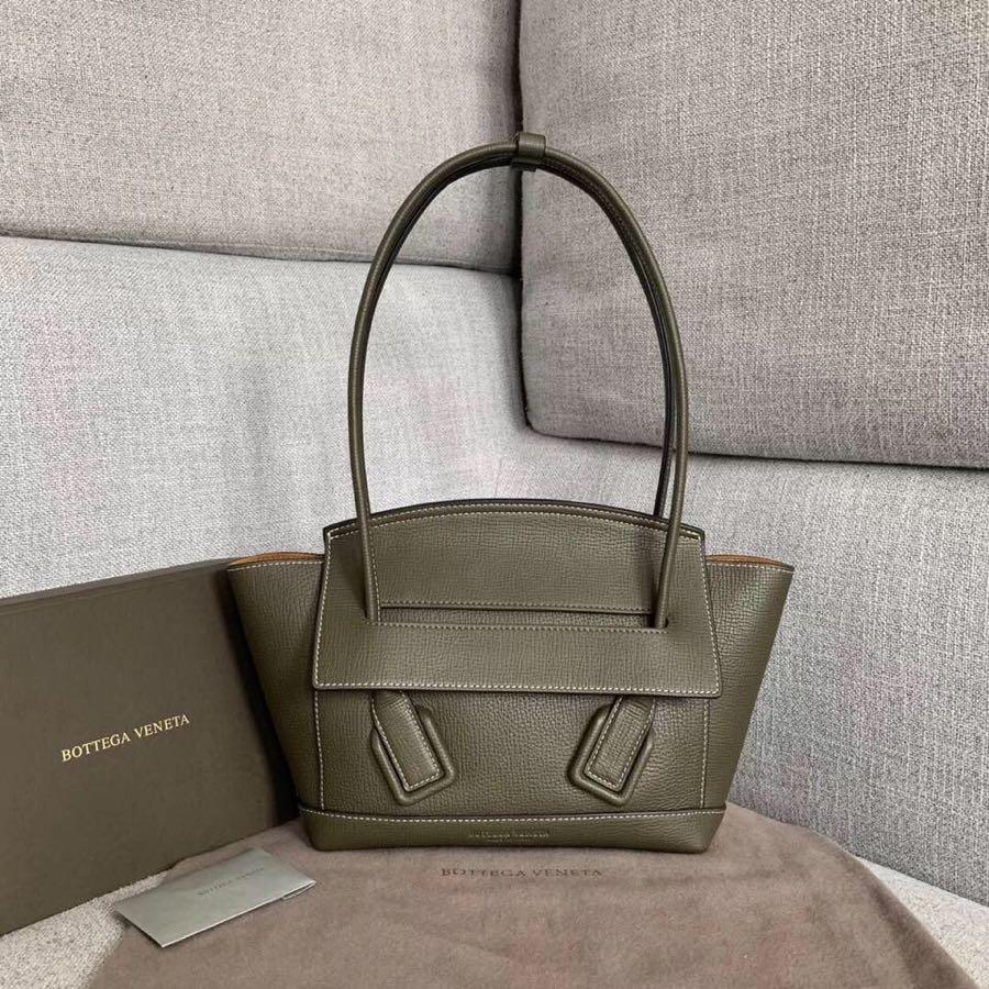 Replica Bottega Veneta Arco 33 Bag In Palmellato Calf Green