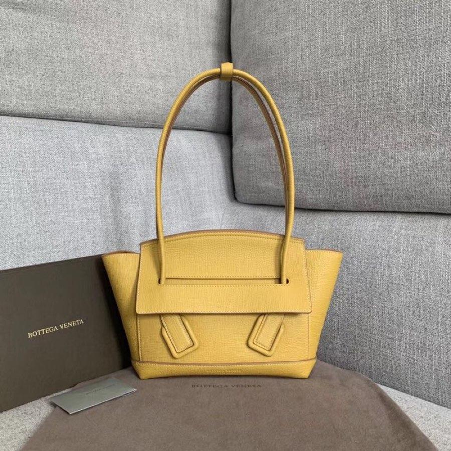 Replica Bottega Veneta Arco 33 Bag In Palmellato Calf Yellow